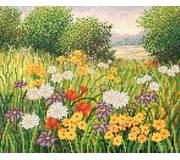 Схема для вышивки бисером Поляна цветов
