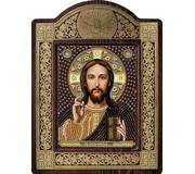 Набор для вышивки бисером в рамке-киоте Христос Спаситель