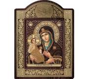 Набор для вышивки бисером в рамке-киоте Богородица «Троеручица»
