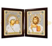 Набор с рамкой-складнем для вышивки бисером Богородица Казанская и Христос Спаситель