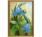 Набор для вышивки бисером Голубые ирисы