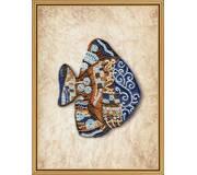 Набор для вышивки бисером Пестрая рыба