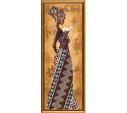 Набор для вышивки бисером Африканка с лилией