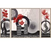 Набор для вышивки бисером Красные цветы