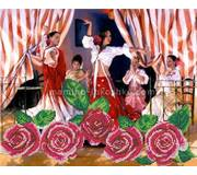 Схема для вышивки бисером Танец роз