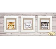 """Схема для вышивки бисером Коллекция миниатюр """"Котята"""""""