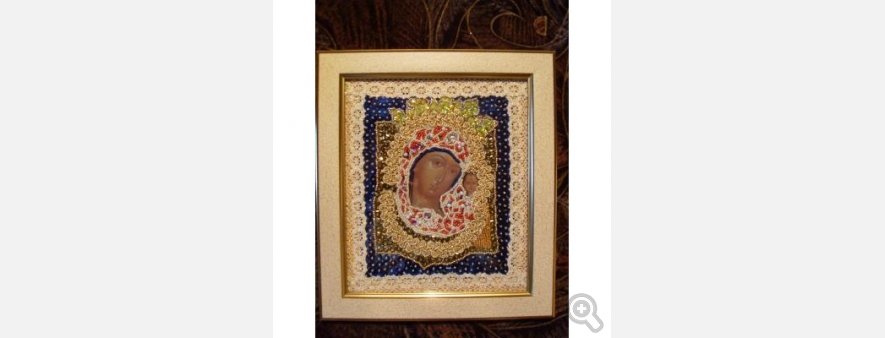 Казанская старинная икона Божией Матери