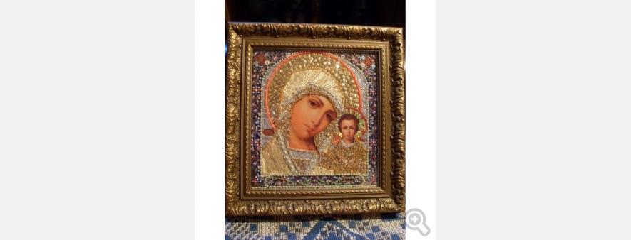 Казанская золотая икона Божией Матери