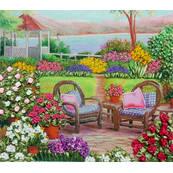 Гладиолусы в саду — вышивка лентами, мастер-класс