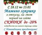 Новогодние скидки до -20%