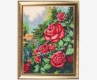 фото: картина для вышивки бисером красные розы