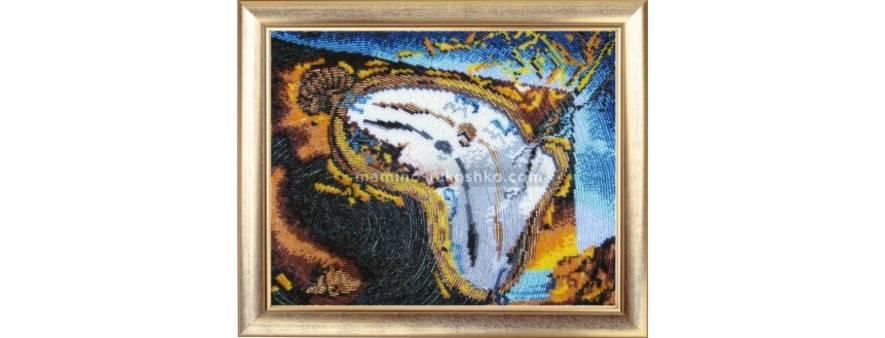 фото: картина для вышивки бисером время течет
