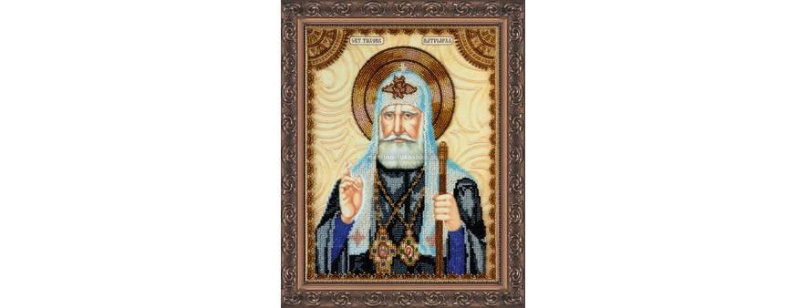 Фото: икона для вышивки бисером Св. Тихон