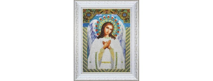 изображение: икона для вышивания бисером и декоративными элементами