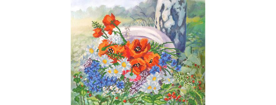 фото: картина для вышивки бисером, Лето