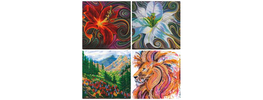 Новые наборы для вышивания картин в разных техниках.