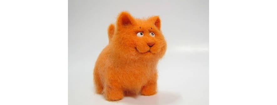 Рыжий кот — валяние игрушек, мастер-класс