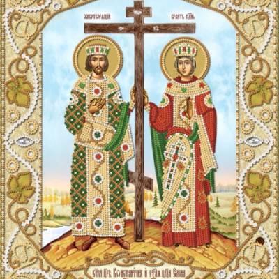 Схема для вышивки бисером Святые Равноапостольные Константин и Елена