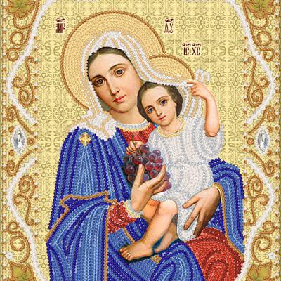Схема для вышивки бисером Образ Пресвятой Богородицы ''Покрывающяя''