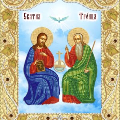 Схема для вышивки бисером Икона ''Троица Новозаветная''