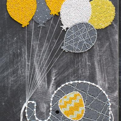 Набор для вышивки бисером Слоненок с шариками