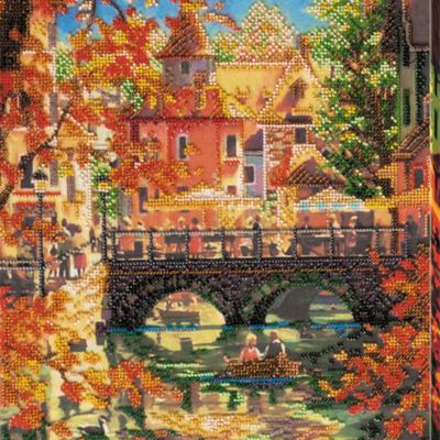 фото: картина для вышивки бисером, осень
