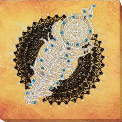 фото: картина для вышивки бисером, Мандала с пером