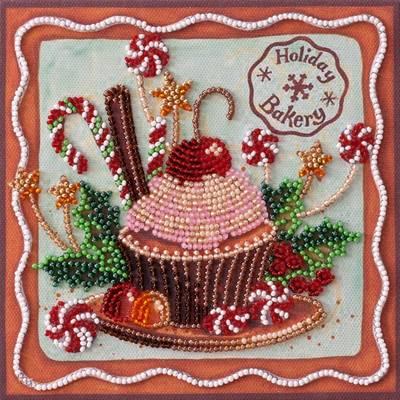фото: картина для вышивки бисером, кексик, кекс, пирожное, праздник