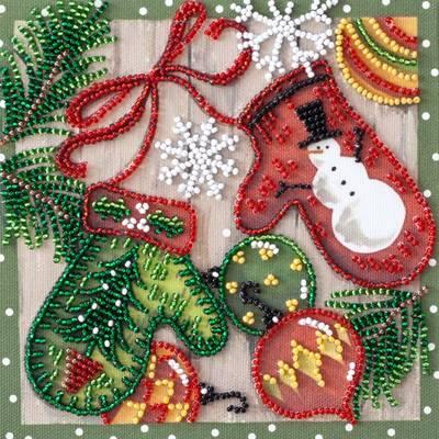 фото: картина для вышивки бисером новый год, новогодние украшения, праздник, новогодние игрушки, новогодние шары