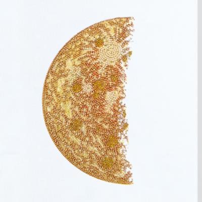 фото: картина, вышитая бисером, Луна