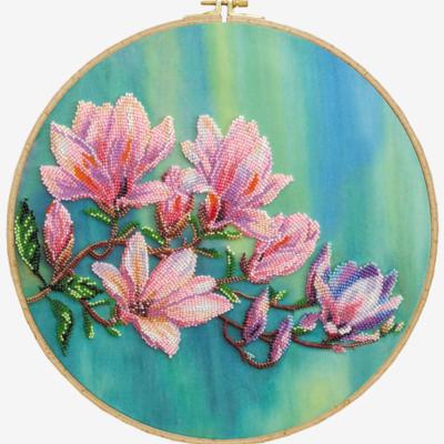 фото: картина, вышитая бисером, Магнолии цветут