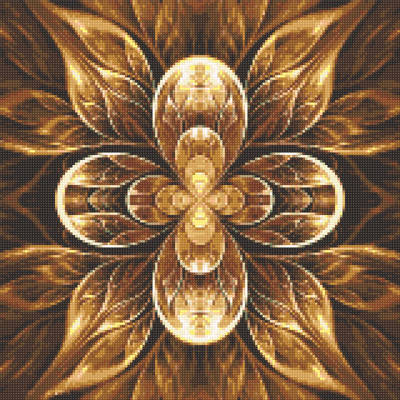 фото: картина в алмазной технике Мандала - цветок жизни