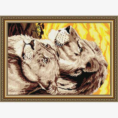 Набор в технике алмазная вышивка Львы