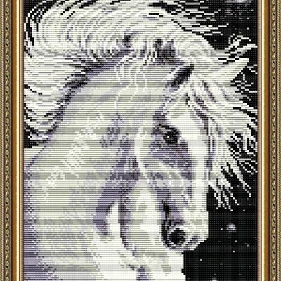 Набор в технике алмазная вышивка Лошадь белая