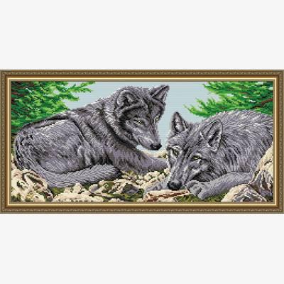 Набор в технике алмазная вышивка Волки