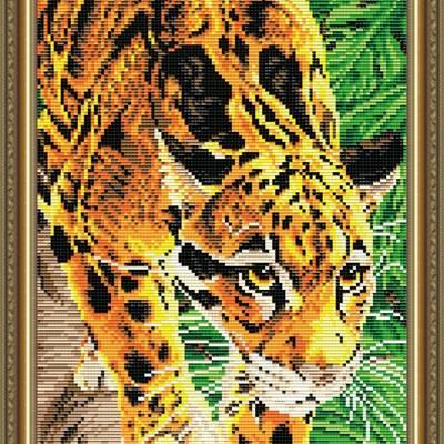 Набор в технике алмазная вышивка Дымчатый леопард