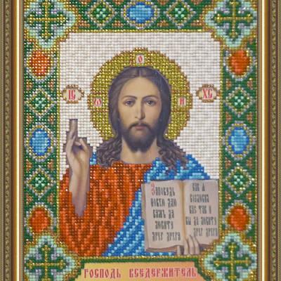 Набор в технике алмазная вышивка Икона Господь Вседержитель