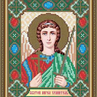 Набор в технике алмазная вышивка Икона Ангел Хранитель