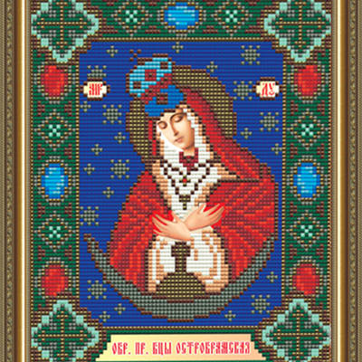 Набор в технике алмазная вышивка Образ Пресвятой Богородицы Остробрамская