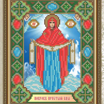 Набор в технике алмазная вышивка Образ Пресвятой Богородицы Покрова