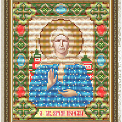 Набор в технике алмазная вышивка Святая Блаженная Матрона Московская