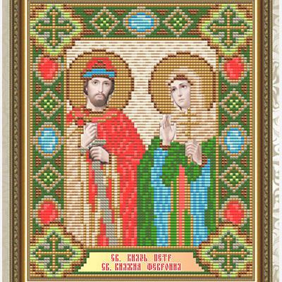 Набор в технике алмазная вышивка Икона Святой князь Петр и Святая княгиня Феврония