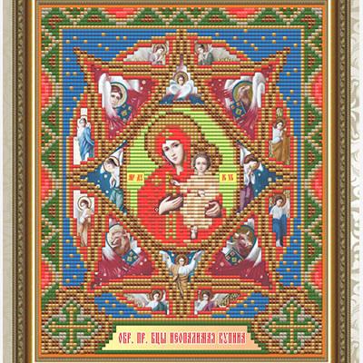 Набор в технике алмазная вышивка Образ Пресвятой Богородицы Неопалимая купина