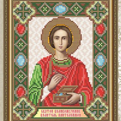 Набор в технике алмазная вышивка Икона Святой великомученик Целитель Пантелеймон
