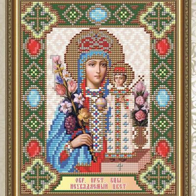Набор в технике алмазная вышивка Образ Пресвятой Богородицы Неувядаемый цвет