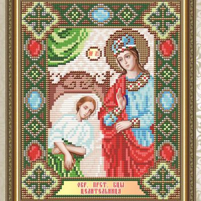 Набор в технике алмазная вышивка Образ Пресвятой Богородицы Целительница