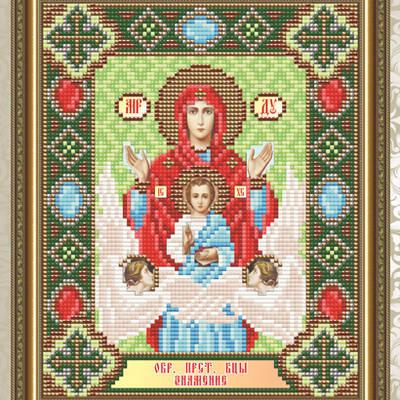 Набор в технике алмазная вышивка Образ Пресвятой Богородицы Знамение