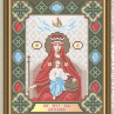 Набор в технике алмазная вышивка Образ Пресвятой Богородицы Державная