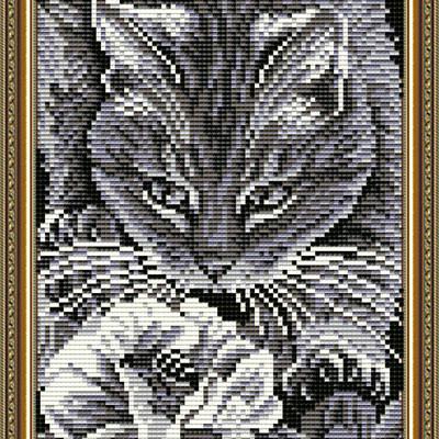 Набор в технике алмазная вышивка Кот и пчела