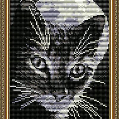 Набор в технике алмазная вышивка Кот под луной